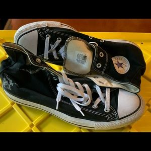 Men's black high top converse all stars